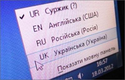 Суржик в Україні